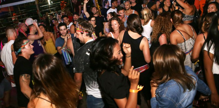 Guests, trainers and staff partying at one of our monthly BBQ Beatdowns Events.