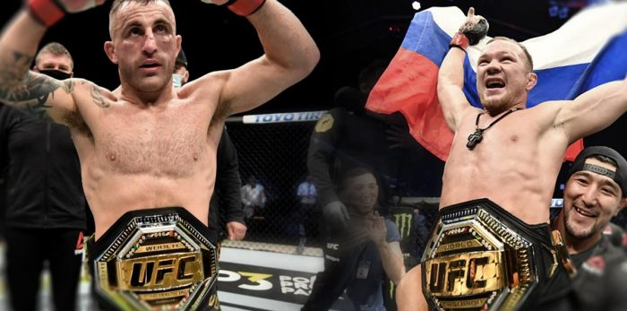 TMT Fighters Alexander Volkanovski & Petr Yan taking 2 World Titles back to Camp after UFC 251
