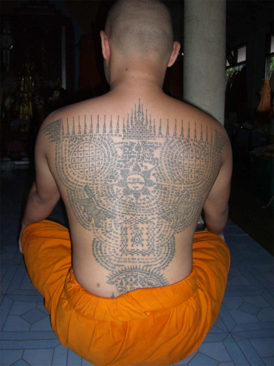 sak yant tattoo and buddhist tattoos in thailand. Black Bedroom Furniture Sets. Home Design Ideas