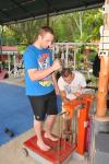 Biggest Loser of weight contest at Tiger Muay Thai and MMA training Camp, Phuket, Thailand