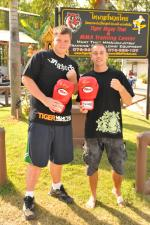 "Justin wins ""Biggest Loser"" contest at Tiger Muay Thai and MMA, Phuket, Thailand"