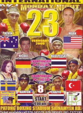 Fight Card Poster Feb 23, 2009 Phuket Thailand