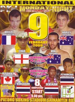 Muay thai Fight Poster Phuket, Thailand February 9, 2009