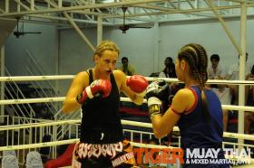 kassie (Australia) Muay Thai fight
