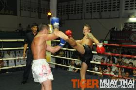 Fighter wins first Muay Thai fight