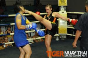 Maria (Sweden) fights Muay thai Phuket, Thailand