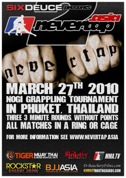 nevertap-asia-2-poster @ Tiger Muay Thai and MMA, Thailand