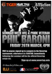 UFC veteran Phil Baroni gives MMA seminar at Tiger Muay Thai and MMA training camp, Phuket, Thailand