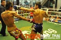 Ritt (Tiger Muay Thai) scores left hook