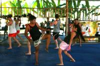 Journalist Tania Presutti @ Tiger Muay Thai and MMA, Phuket, Thailand