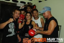 Veronica defendsPatong Muay thai title with 4th round KO